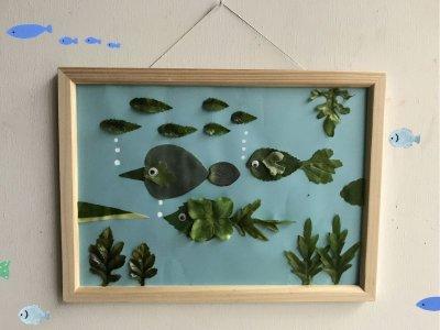 画像1: 「葉っぱ水族館」 制作キット