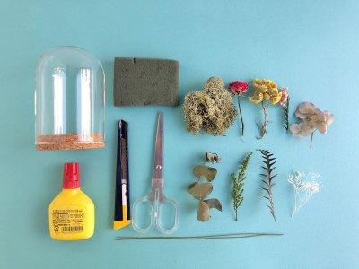 画像2: 「ドライフラワーのガラスドーム」制作キット